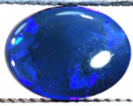 N1  -  0.70CTS BLACK SOLID OPAL STONE  TBO-6397