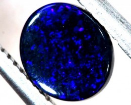 N1  -  0.80CTS BLACK SOLID OPAL STONE  TBO-6398