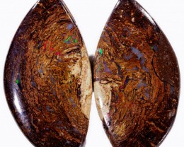 24 CTS PAIR BOULDER WOOD FOSSIL REPLACEMENT [BMA4374]