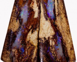 42.40 CTS PAIR BOULDER WOOD FOSSIL REPLACEMENT [BMA4389]
