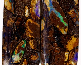 21.70 CTS PAIR BOULDER OPAL - WELL POLISHED [BMA4396]