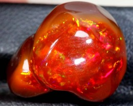 13.3 CT  Orange Polished Mexican Fire Opal INV-635
