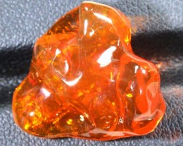 18.1 CT  Orange Polished Mexican Fire Opal INV-642