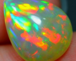 4.42Ct Rainbow Multi-color Ethiopian Welo Polished Opal