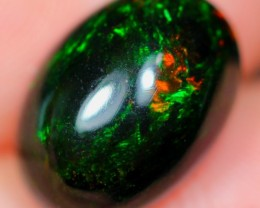 3.16Ct Green Color Play Ethiopian Welo Solid Smoked Opal