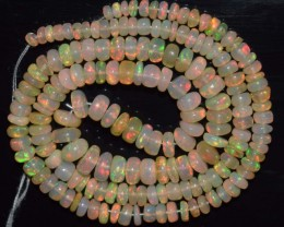 41.15 Ct Natural Ethiopian Welo Opal Beads Play Of Color