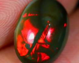 2.55Ct Untreated Red Fire Ethiopian Welo Polished Opal