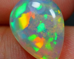 2.84Ct Green Broadflash Ethiopian Welo Polished Scenic Coral Inclusion Opal