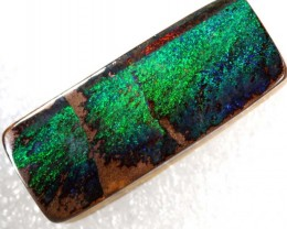 31.65CTS QUALITY  BOULDER OPAL POLISHED STONE DRILLED  INV-712  GC