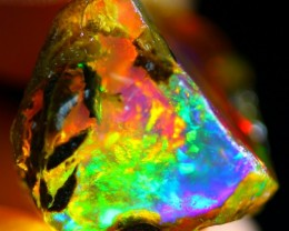 23Ct Rainbow ContraLuz Ethiopian Welo Rough Specimen Rough Opal