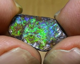 5.85 ct Beautiful Gem Blue Green Natural Queensland Boulder Opal