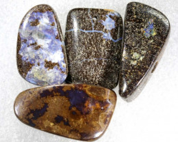 84.10CTS BOULDER  OPAL POLISHED DRILLED PARCEL 3PCS IN-07