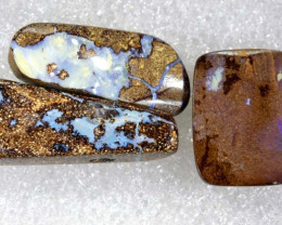 66.50CTS BOULDER  OPAL POLISHED DRILLED PARCEL 3PCS IN-08