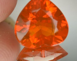 4.60 Cts Natural Fire Opal Faceted Heart Shape Mexican