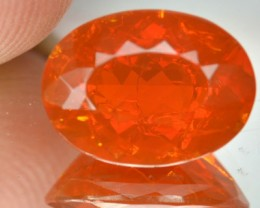 4.19 Cts Natural Fire Opal Oval Sahpe Mexican