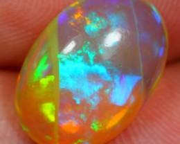 2.60Ct Natural Violet Green Ethiopian Welo Polished Opal