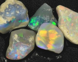 25.95 cts Australian ROUGH Soild Opal Lightning Ridge  5 pcs