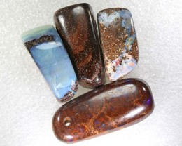 102.90CTS BOULDER  OPAL POLISHED DRILLED PARCEL 4PCS IN-18