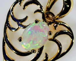 6.75 TCW CRYSTAL OPAL SET IN 9K YELLOW GOLD PENDANT TOP SB582