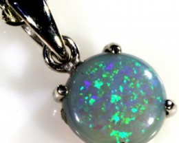 SOLID OPAL SET IN 18K WHITE GOLD PENDANT TOP SB587