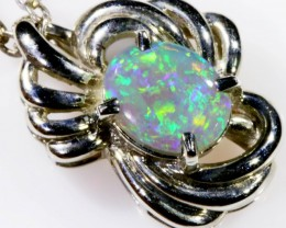 SOLID OPAL SET IN 18K WHITE GOLD PENDANT TOP SB600