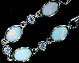 29.25 Fire Opal crystal  Bracelet , top design sterling silver  SB 609