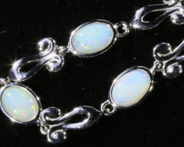 34.80 cts Fire Opal crystal  Bracelet , top design sterling silver  SB 610