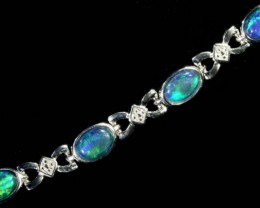 Fire Opal triplet  Bracelet , top design sterling silver  SB 613