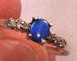 VERY PRETTY VERY BLUE Size US 7 Australian Opal Doublet ring