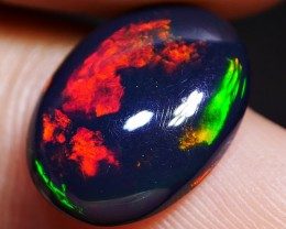 STUNNING BRIGHT FLAGSTONE LAVA FIRE MULTICOLOR SMOKED WELO OPAL 2.70 CRT