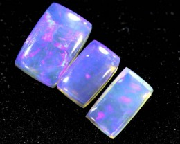 1.10CTS CRYSTAL OPAL POLISHED PARCEL  3PC TBO-6718