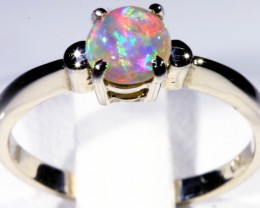 SIZE 5 CRYSTAL OPAL SET IN 18K WHITE GOLD RING CJ928