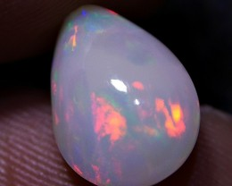2.25 CRT BRILLIANT MILKY WHITE 3D FIRE BLAZE COLOR PATTERN WELO OPAL