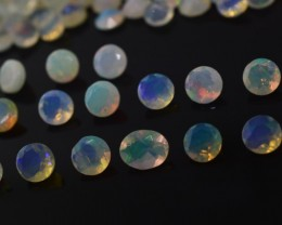 Faceted Opal 48 cts 300 stones 3.5-4mm Round