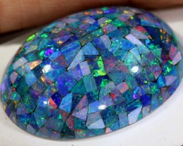 21.70CTS OPAL DOUBLET MOSAIC TBO-6756