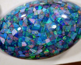 21.70CTS OPAL DOUBLET MOSAIC TBO-6757