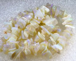 130.45CTS CRYSTAL OPAL CHIPS BEADS STRAND TBO-6768