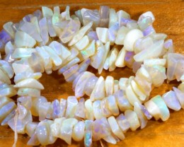62.40CTS CRYSTAL OPAL CHIPS BEADS STRAND TBO-6782