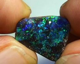 6.25 ct Beautiful Natural Blue Green Queensland Boulder Opal