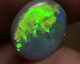 2.22ct Lightning Ridge Gem Semi Black Opal LR221
