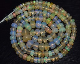 49.85 Ct Natural Ethiopian Welo Opal Beads Play Of Color