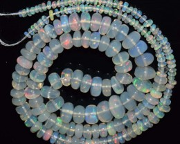 54.75 Ct Natural Ethiopian Welo Opal Beads Play Of Color