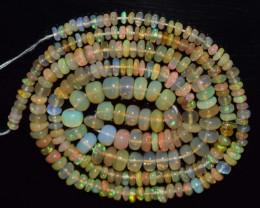 32.45 Ct Natural Ethiopian Welo Opal Beads Play Of Color