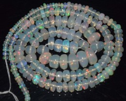 54.65 Ct Natural Ethiopian Welo Opal Beads Play Of Color