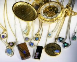 Parcel of beautiful opal pendants ,ideal re sellers SB 618