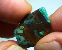 11.95 ct Beautiful Blue Green Color Solid Boulder Opal Rough Rub