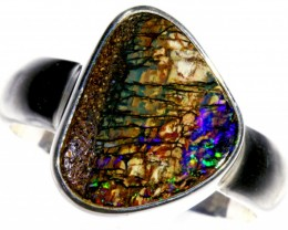 Wood Fossil  opal Rings