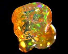 3.4CTS MEXICAN FIRE OPAL CARVED STONE FOB-1062