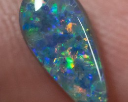 BLACK OPAL LIGHTNING RIDGE NATURAL SOLID 1.32ct GEM BOPC090517