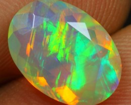 FREE SHIPPING Faceted 2.15cts Northern Light Pattern Ethiopian Opal